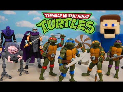 NECA Rise Of The CLASSIC Ninja Turtles 1980's Cartoon Figures Unboxing!