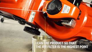 How to change oil in your Husqvarna lawnmower