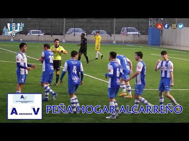 HOGAR ALCARREÑO 3 - 0  C.F. TALAVERA .21 FEBRERO 2021, PEÑA HOGAR ALCARREÑO A.V ABOGADOS GUADALAJARA