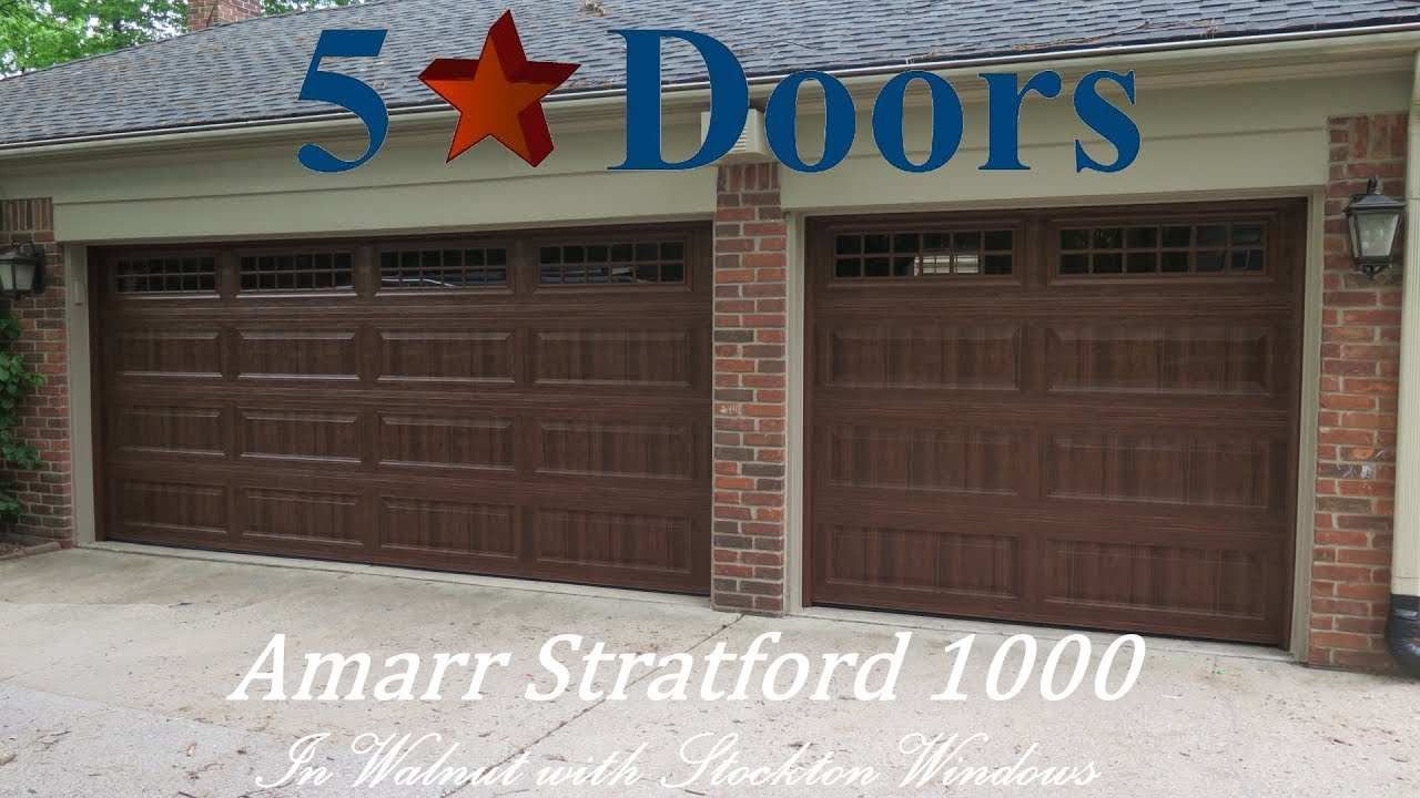 Amarr Stratford 1000 In Premium Wood Grain