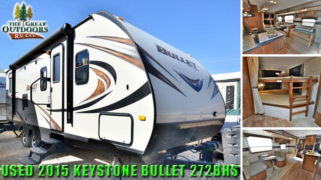 USED 2015 KEYSTONE BULLET 272BHS BUNK MODEL TRAVEL TRAILER RV Colorado  Sales Dealer