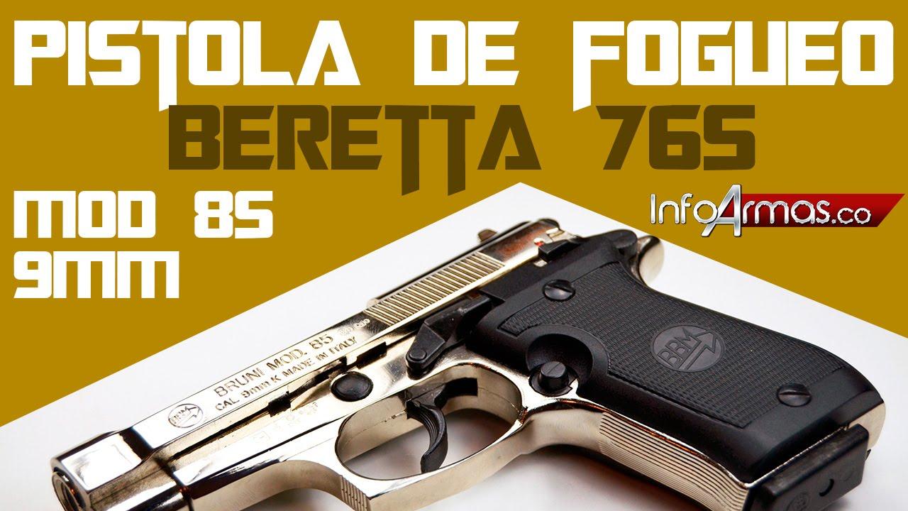Pistola de salva beretta 765 mod 85 8mm de salva o fogueo for Pistola de pegamento o de silicona