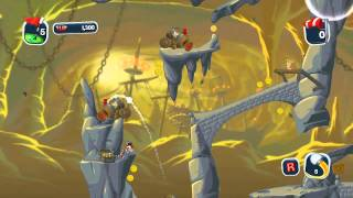 Worms Crazy Golf - Pirate Cavern Gameplay Trailer (PC, PS3)