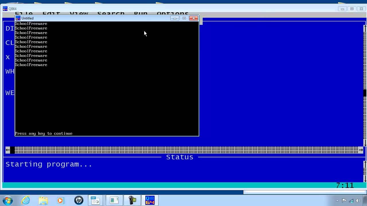 QBasic Tutorial 9 - While Loop - QB64 - Free Download