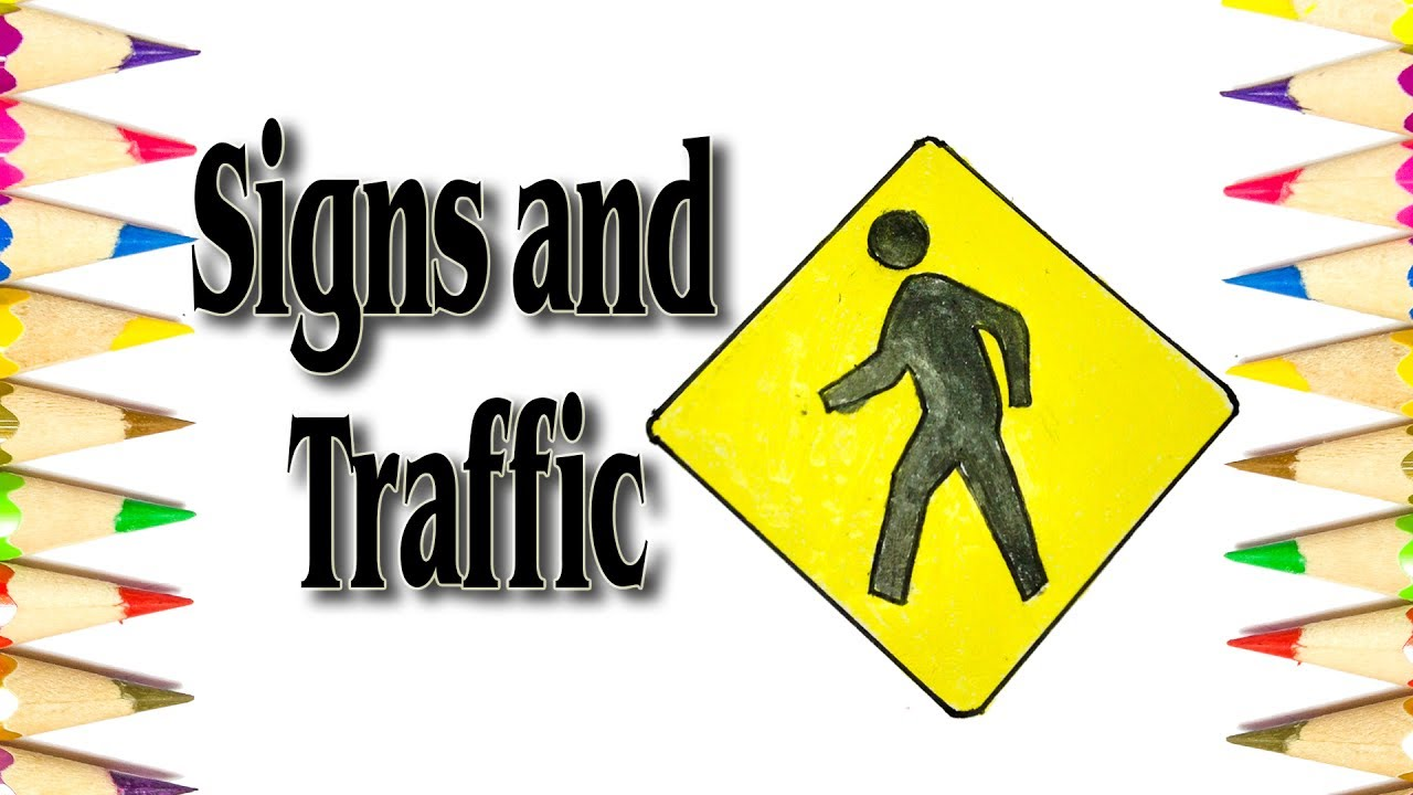 how to draw the road symbol signs and traffic symbols sld youtube