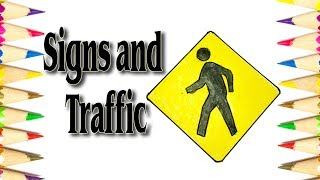 How to Draw the Road Symbol Signs and Traffic Symbols - SLD