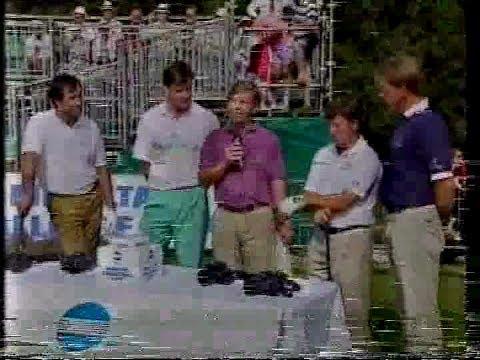 Skins golf match with Seve,Faldo,Woosnam,Stewart.Walton Heath.1991.