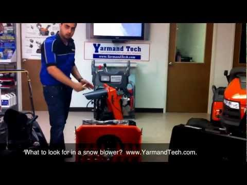 How to Select a Good Snowblower?  www.YarmandTech.com