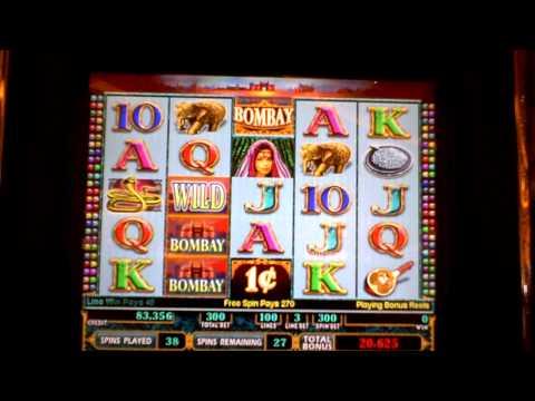 Bombay 65 spin slot machine bonus win disappointment