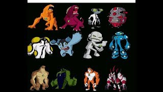 Ben 10 aliens & their ultimate forms