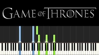 Game of Thrones - The Rains of Castamere (Piano Tutorial - Synthesia) [+ sheets]