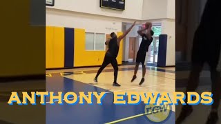 📱Potential No. 1 pick Anthony Edwards dunking, dribbling, jump-shooting behind-the-scenes