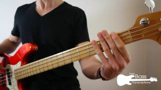 Queen - Don't Stop Me Now Bass (Play Along + Transcription)