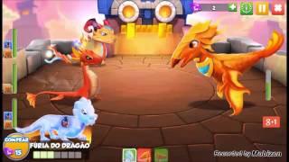 Enfrentando o último Dragão Chefe KORLOTH - Dragon Mania A Lenda - Batalha CASTELO DE CRYSTO