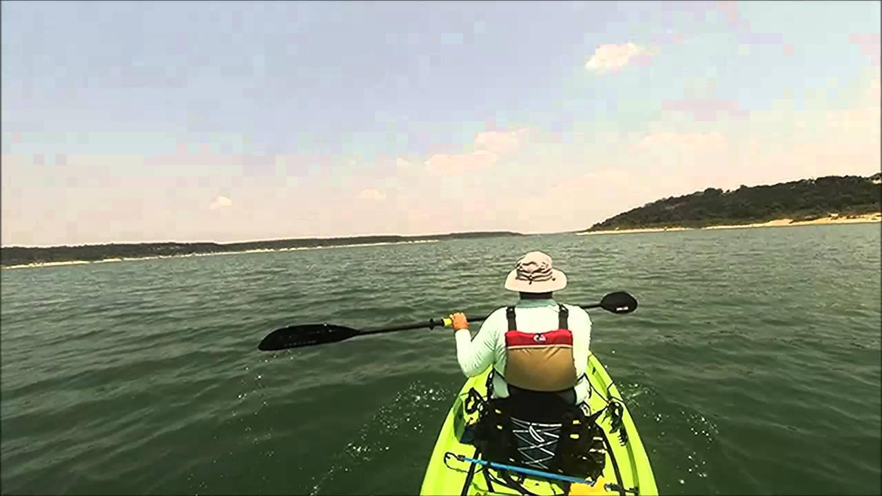 Blora belton lake kayaking youtube for Belton lake fishing