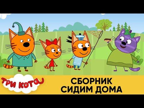 Три Кота | Сборник Сидим Дома | Мультфильмы для детей 🏠😷👀