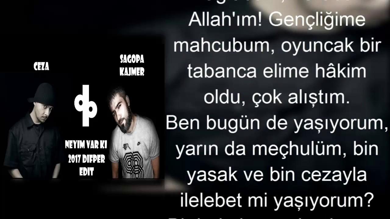 Ceza - Neyim Var ki (ft.Sagopa.K)  Lyrics