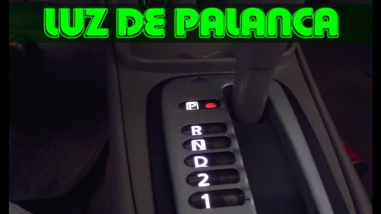 Reparacion de luz de palanca de velocidades - YouTube