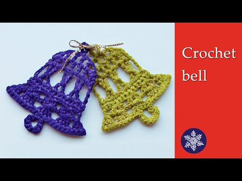 Crochet bell Christmas decoration – tutorial