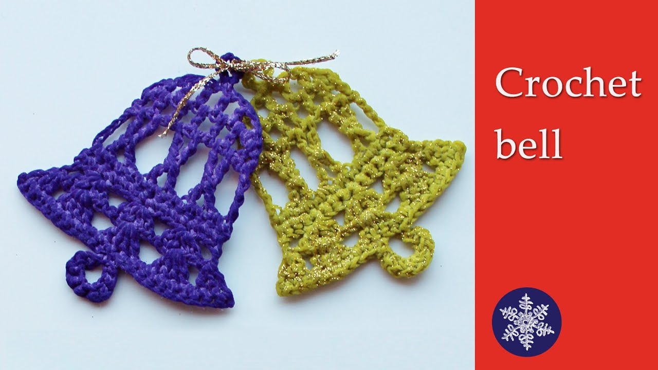 Crochet bell Christmas decoration - tutorial - YouTube