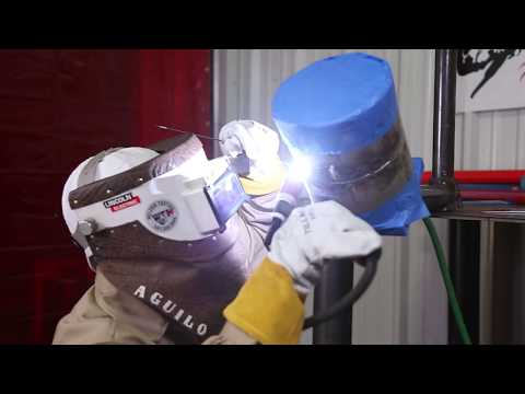 "Tig Welding, How to pass a 6G - 6"" Stainless Steel Schedule 10 Pipe Test."