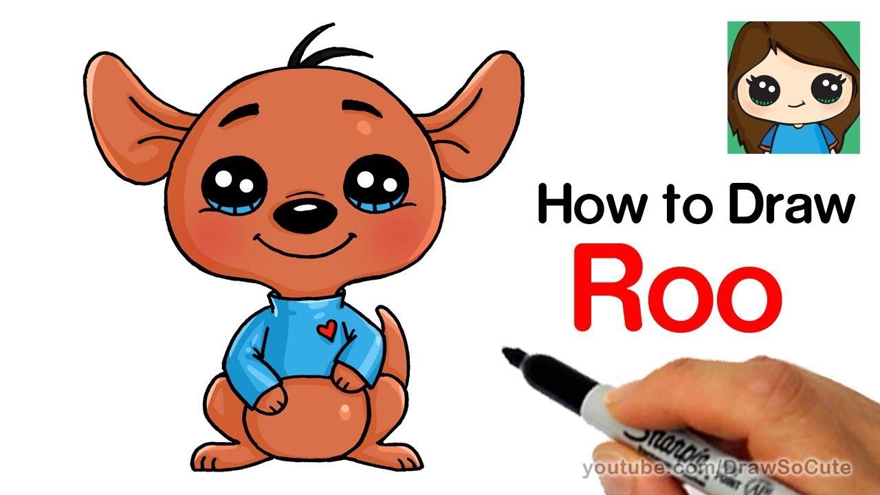 How To Draw Roo Kangaroo Easy