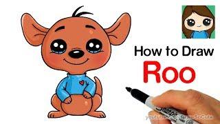 How to Draw Roo Kangaroo Easy | Winnie the Pooh