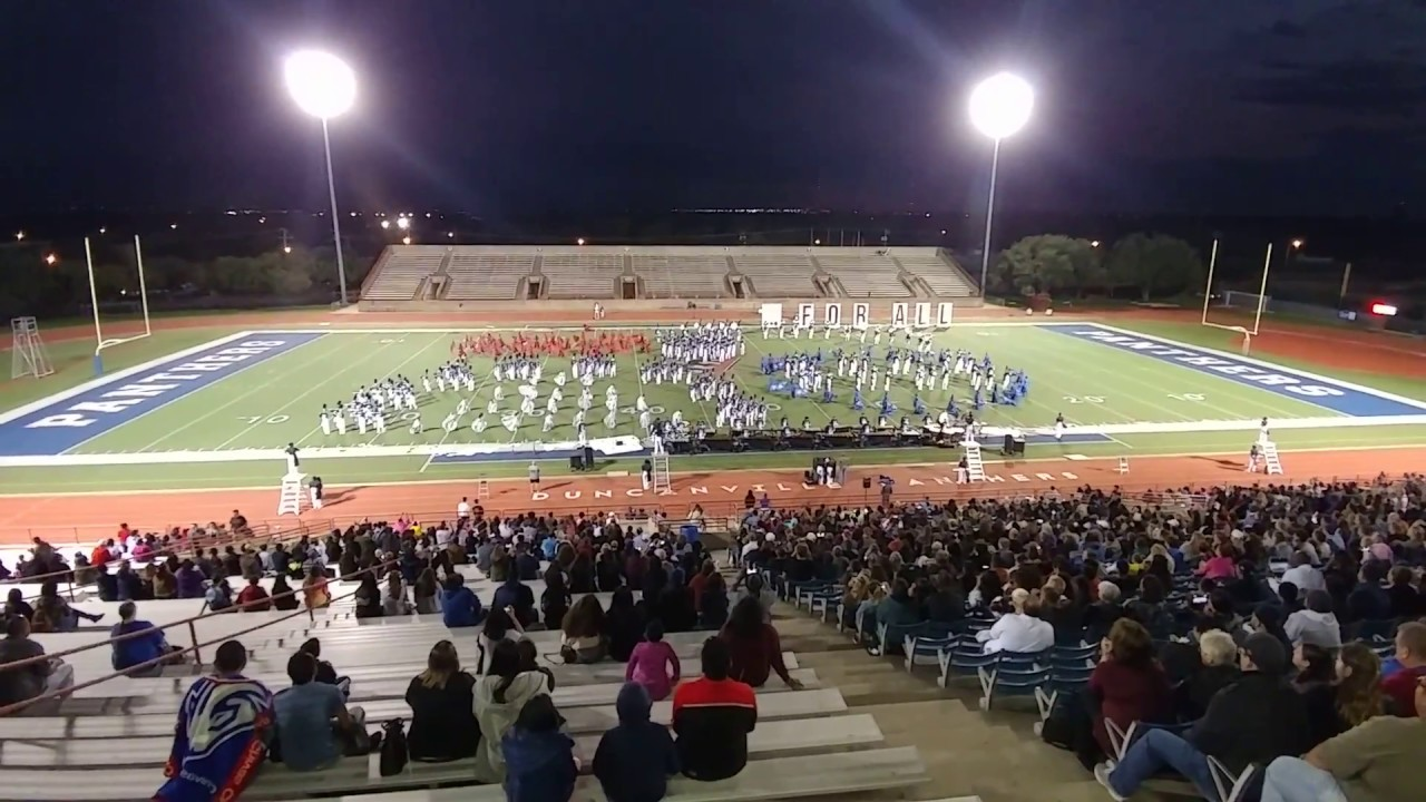 """Duncanville Marching Band 2018 """"For All"""" (full width) 11/4/2018 State Send Off Community Performance"""