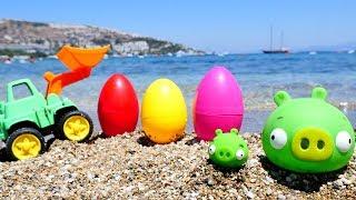 Видео для детей про #игрушки: ПЛОХИЕ СВИНКИ bad piggies (Энгри Бердз). Мама СВИНКА ищет малыша