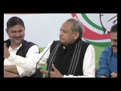 AICC Press Briefing by Ashok Gehlot and KC Venugopal at Congress HQ