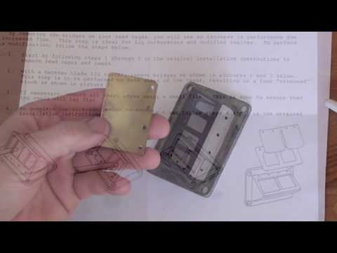 Snowmobile tutorial - Installing Boyesen reeds