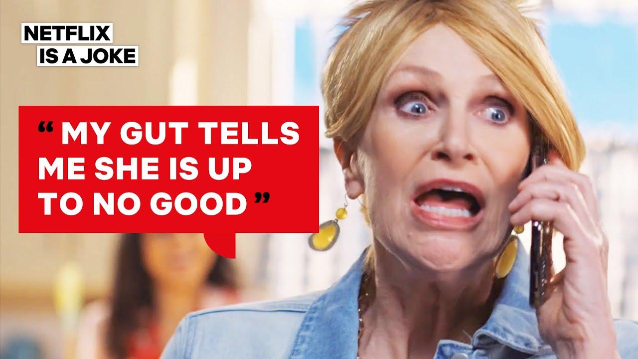 Karen with Jane Lynch from Sarah Cooper: Everything's Fine   Netflix Is A Joke