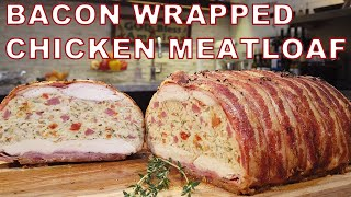 Chicken Meatloaf Wrapped in BACON! - Chef Jean-Pierre