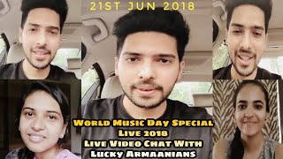 Armaan Malik World Music Day Special Instagram Live Live Chat With Lucky Armaanians