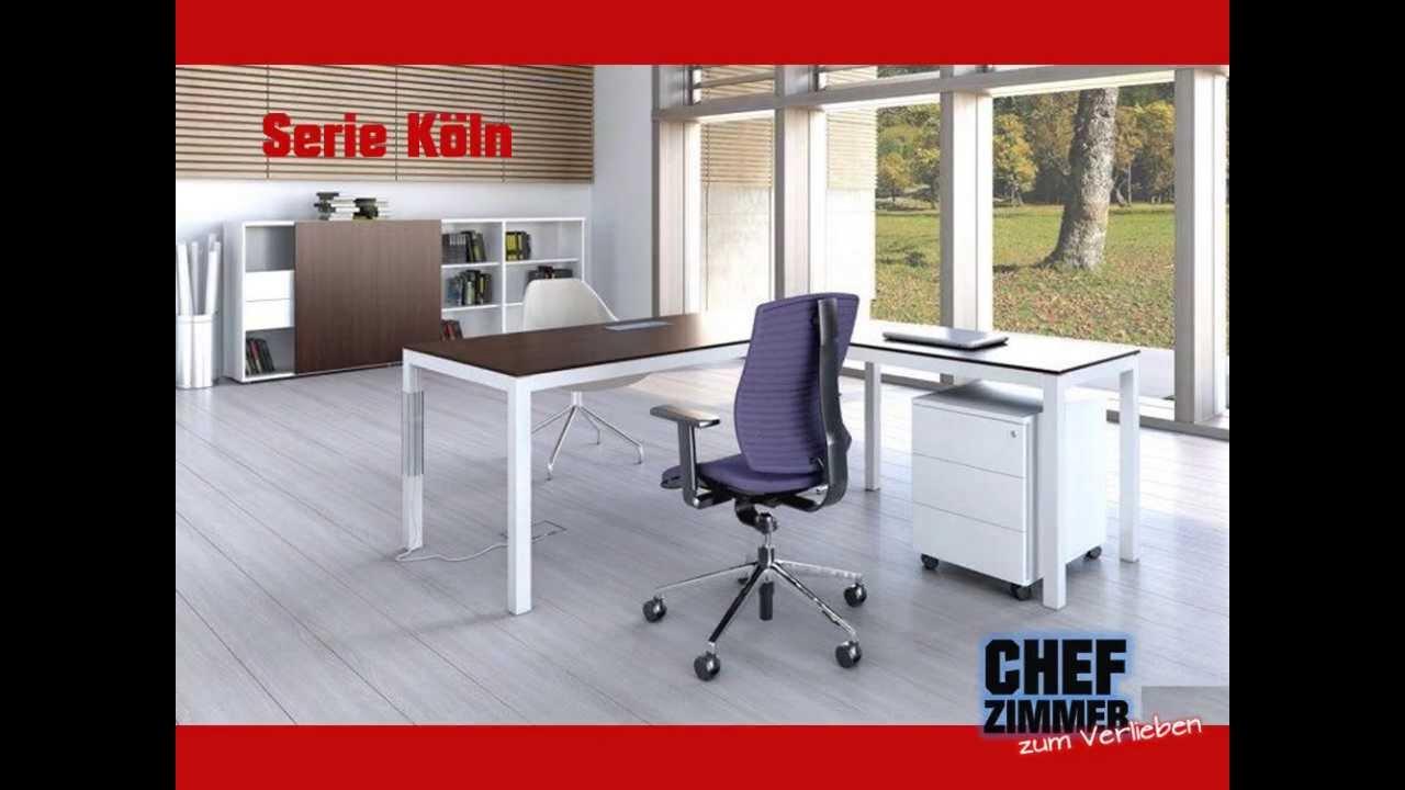 Büromöbel günstig köln  Günstige Chefzimmer Büromöbel Köln NRW Lieferung in Europa mit 2 ...