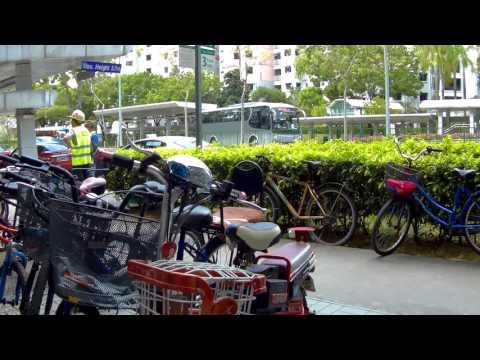 Singapore, biking from Rivervale Crescent to Kampung Lorong Buangkok