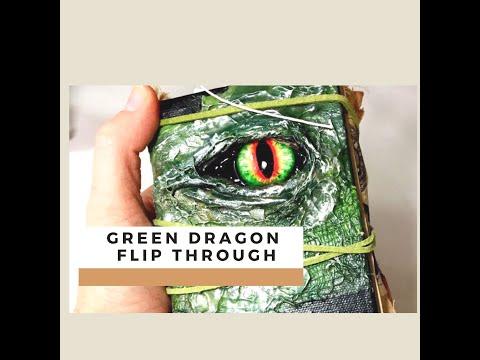 DIY Mini Junk Journal Green Dragon/Game of Thrones Flip Through