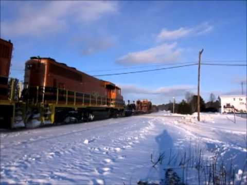 Huron Central Railway - HCRY rail train @ Nairn Centre, ON