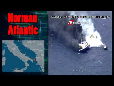 Norman Atlantic Burning Italian Ferry Boat Adriatic Sea - Video