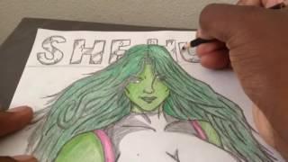 Drawing She Hulk