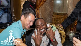 Davido Gets Championship Rings For His Team At Johnny Dang & Co!