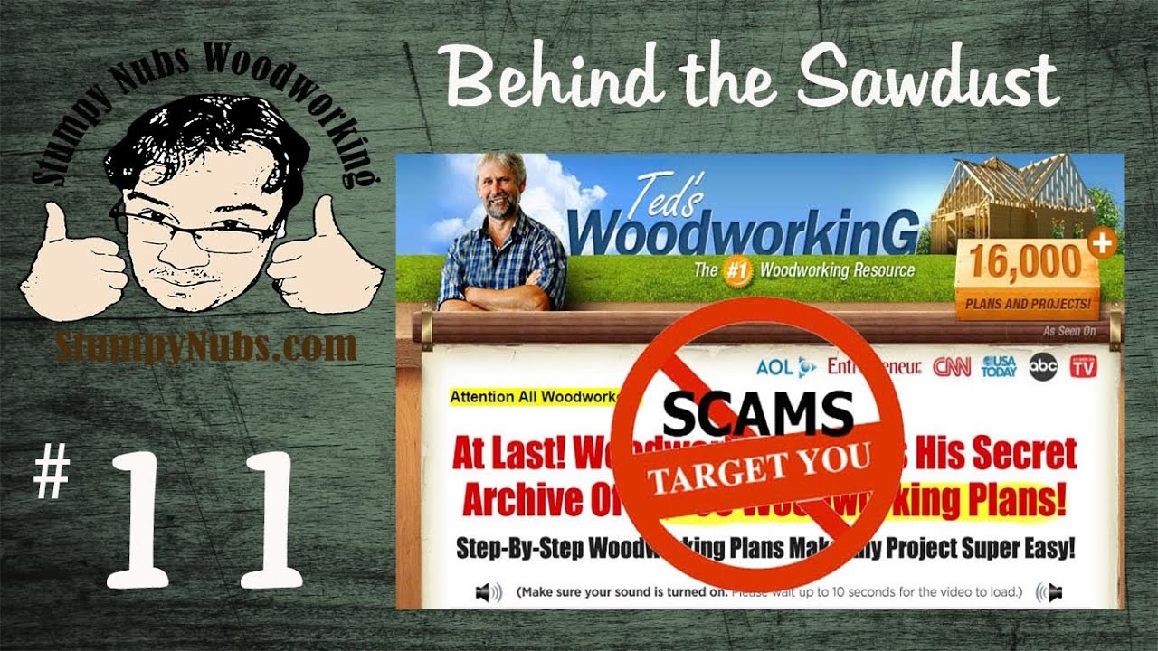 Todays Woodworking News  Teds Woodworking Plans Fight The Scam Youtube