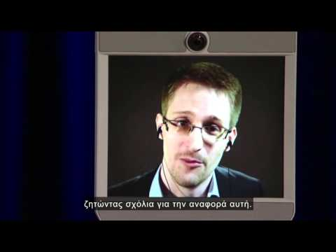 Edward Snowden 2014  TEDx  greek subs