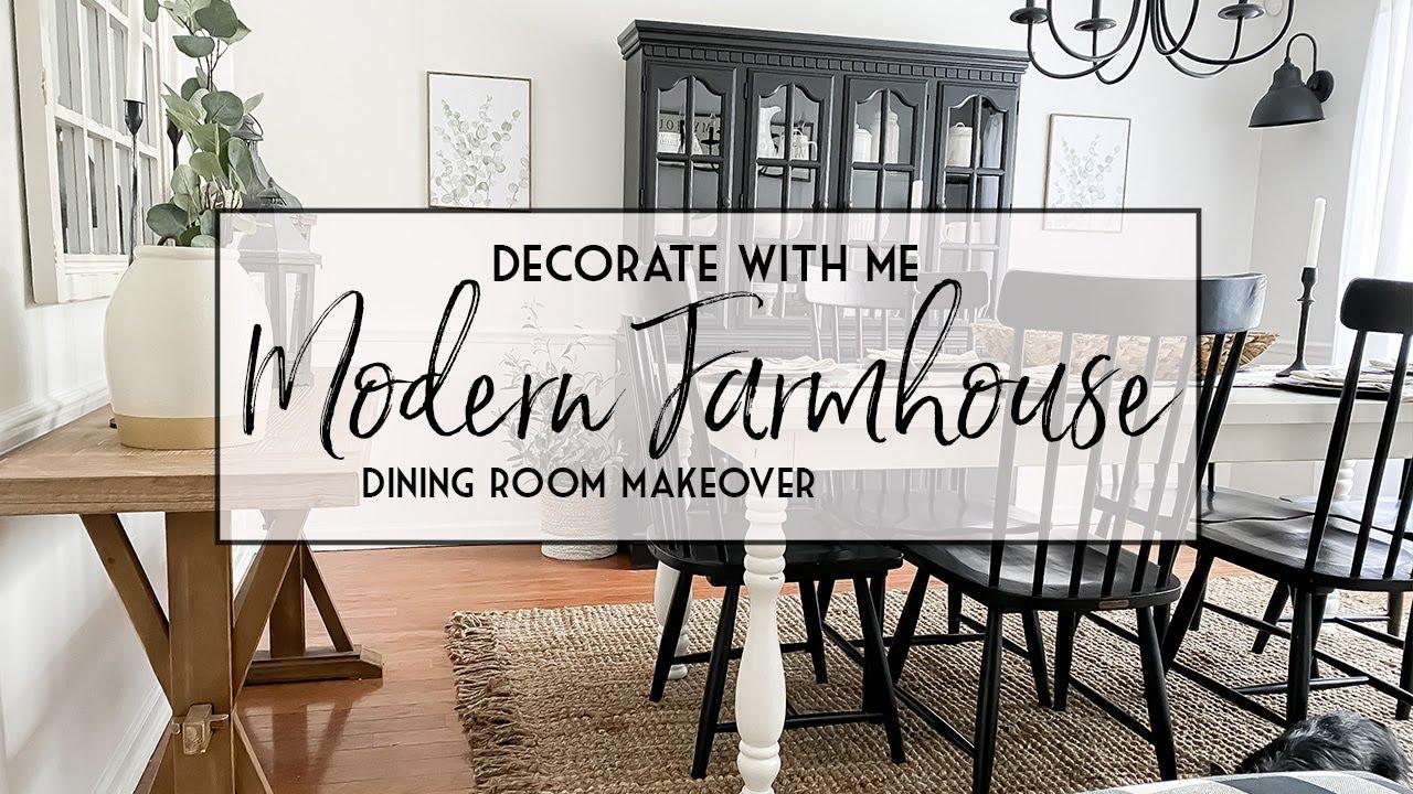 Modern Farmhouse Dining Room Makeover, Farmhouse Dining Room