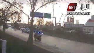 شاهدوا لحظة مرور موكب الرئيس بوتفليقة عبر الطريق السريع اتجاه الإقامة الرئاسية بزرالدة
