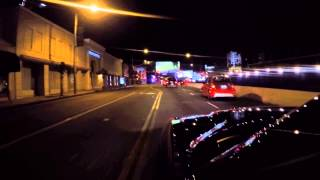 Driving at Night Down Sunset Strip w/ a Go Pro Hero 4