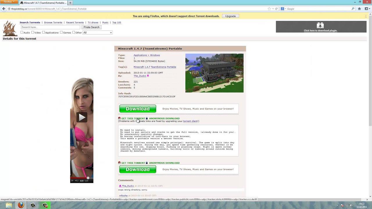 minecraft torrent download cracked