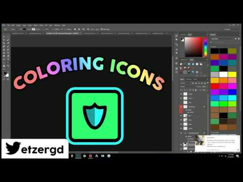 COLOR + SHADE Your Own GEOMETRY DASH ICONS - [Make Your Own Icons!]