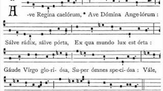 Ave Regina Cælorum (Tonus simplex, Liber usualis)