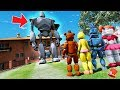 CAN THE ANIMATRONICS DEFEAT THE IRON GIANT? (GTA 5 Mods FNAF Kids RedHatter)